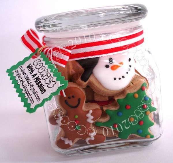 Biscuits de Noël dans un bocal