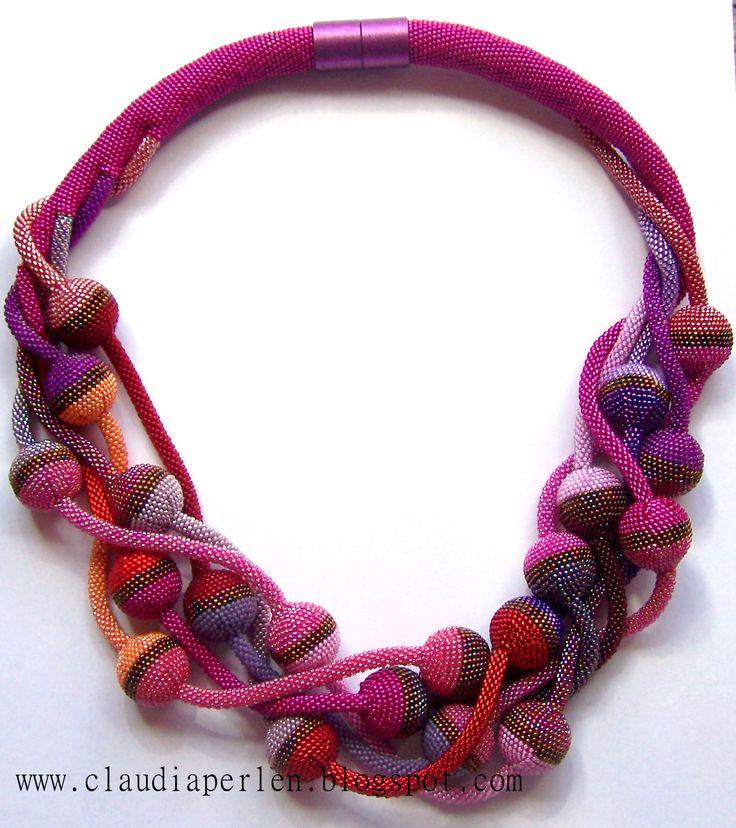 wonderful bead chrochet necklace by Claudia <3