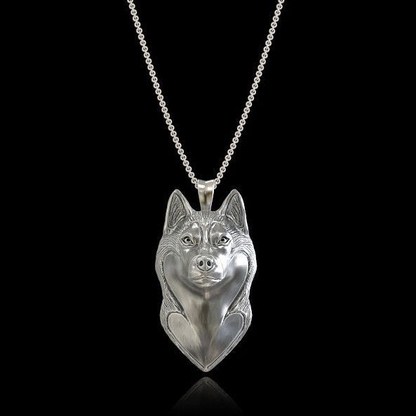 Siberian Husky Breed Jewelry Face Pendant