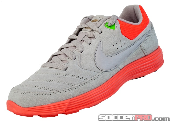 san francisco 378d7 6107b ... Nike5 NSW Lunar Gato Indoor Soccer Shoe - Grey with Total Crimson.