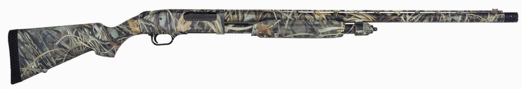 Mossberg 835 in Realtree Max-4 ® wetlands camo, one of the most successful duck hunting camo patterns ever designed. It is the culmination of Bill Jordan's years of experience creating and marketing camo designs. The Max-4 camo design features cattails, mullet, milo, cornstalks, sunflowers, oak and maple leaves, cedar and oak limbs, and a variety of other plant life. The pattern offers maximum effectiveness as waterfowl camo in any open terrain—without geographical limitations. It is the…