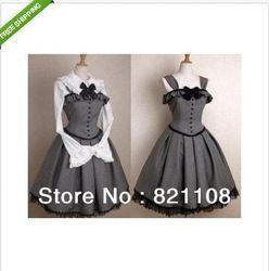 Goedkope Kostuums, koop rechtstreeks van Chinese leveranciers: Dan zorgvuldig kiezen de grootte die u nodig hebt!Beschrijving:Materiaal: katoen, uniforme doekPost inbegrepen:een wit overhemd en een grijze jurk