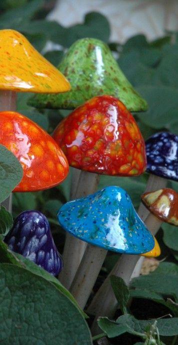 Shroomyz, Ceramic Garden Mushrooms, JJ Potts, Garden Art,Ceramic Garden Art,Shroomyz Art,Shromies, Garden Decor, Mushroom Art