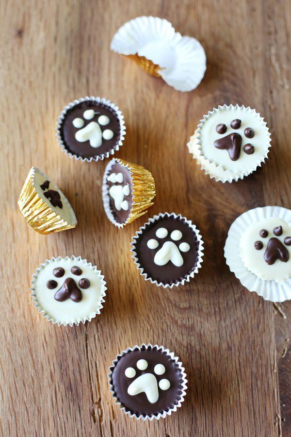 Puppy Peanut Butter Cups | pinkpistachio.com #chocolate #peanutbutter