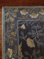 Pottery Barn Adeline Blue 100% Wool 8 X 10u0027 Rug NEW   $589.90