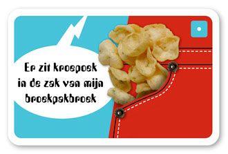 !?! Kroepoek Hit !?! Rondom één tongbreker kan je al een heel liedje maken.Carnaval 2011 met kroepoek en een broekpakboek! Jaaaaaahaha! De Feestboyband Pruik gaat de hitlijsten bestormen. Zij maakten n.a.v. één Tongbreker een ware carnavalshit! >>> kijk op: http://www.dubbelzes.nl/teksten_website/0_tongbrekers/Tongbrekers.html#kroepoek