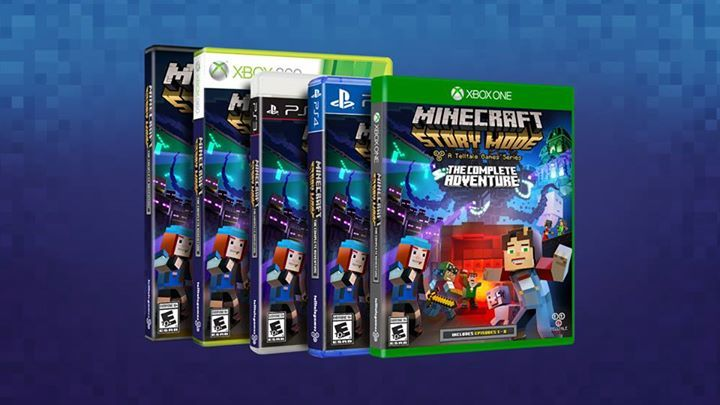 Own the entire saga when 'Minecraft: Story Mode - The Complete Adventure' disc arrives in stores on PlayStation 4, Xbox One, Xbox 360 and PC this October!  Details here: https://telltale.com/news/2016/09/-minecraft-story-mode---the-complete-adventure-available-at-retail-this-october #minecraft #pcgames