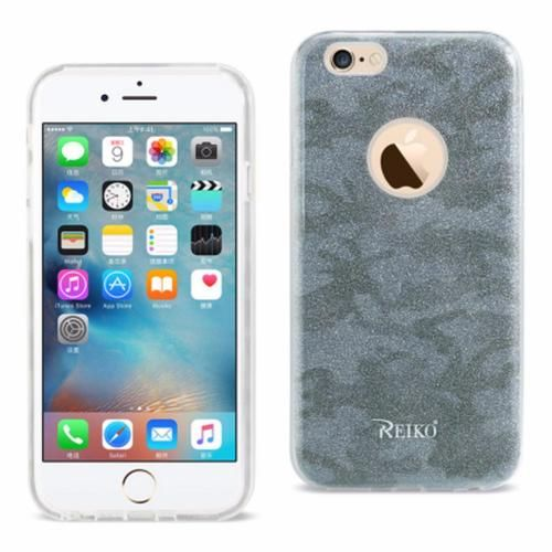 Reiko iPhone 6/6s 4.7inch Bumper Design TPU case Camouflage Blue PC + TPU Case
