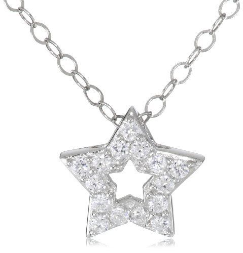 Platinum Plated Sterling Silver Cubic Zirconia Mini Star Necklace Amazon Curated Collection. Save 52 Off!. $47.99. Made in China