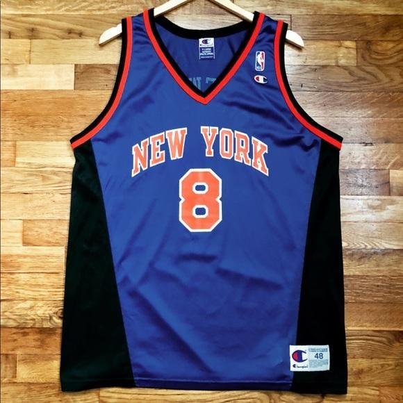 301569b28 Latrell Sprewell New York Knicks Champion Jersey Size 48   XL ...