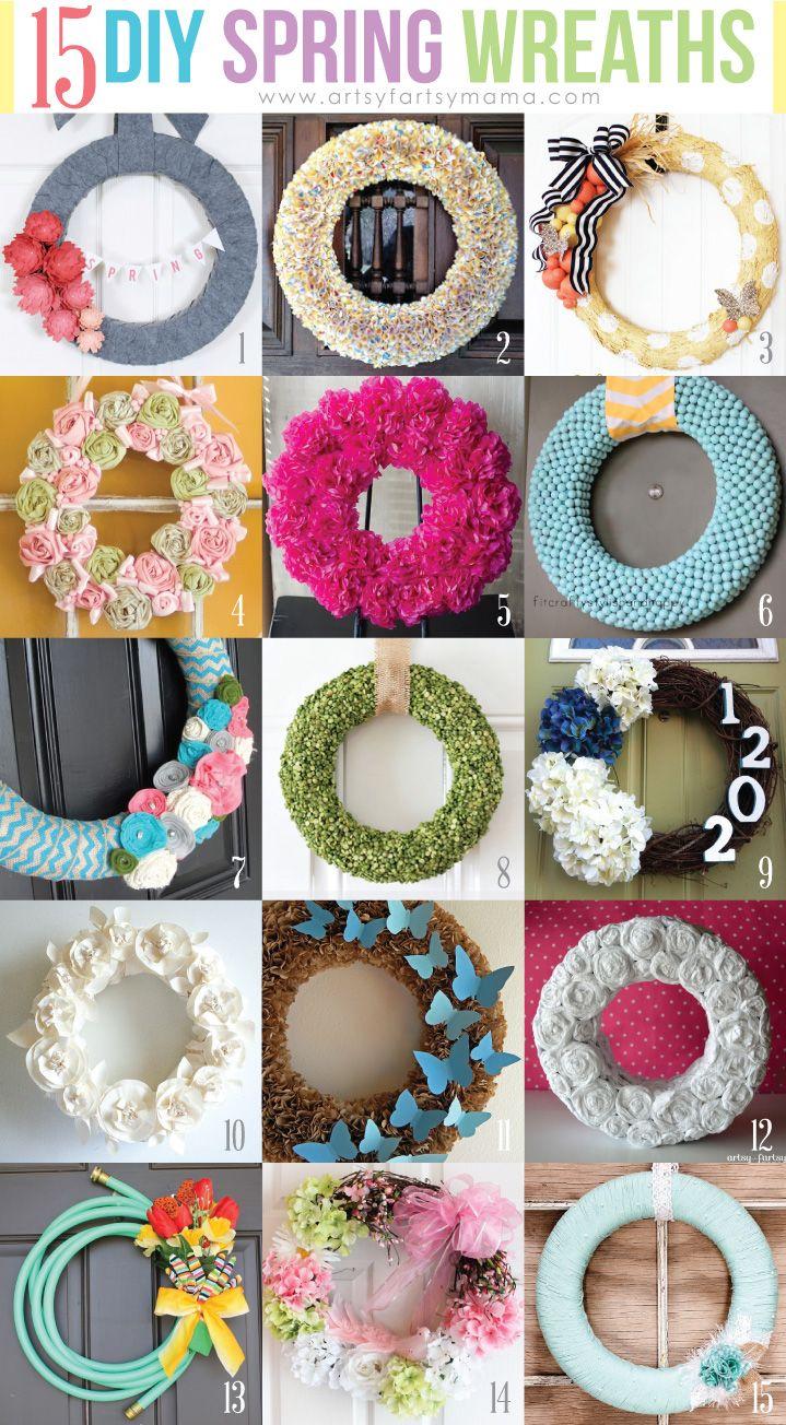 15 DIY Spring Wreaths (I LOVE THE GARDEN HOSE!!!)