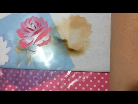 Pintura em tecido com stencil parte1 - YouTube