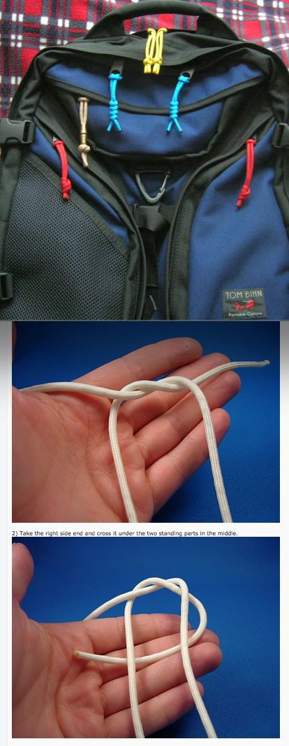 How to tie Paracord knots to your backpacks >>> Great DIY how to with photos for all the different steps to make the knots