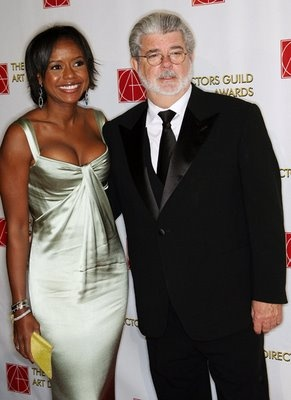 Melody Hobbson and George Lucas