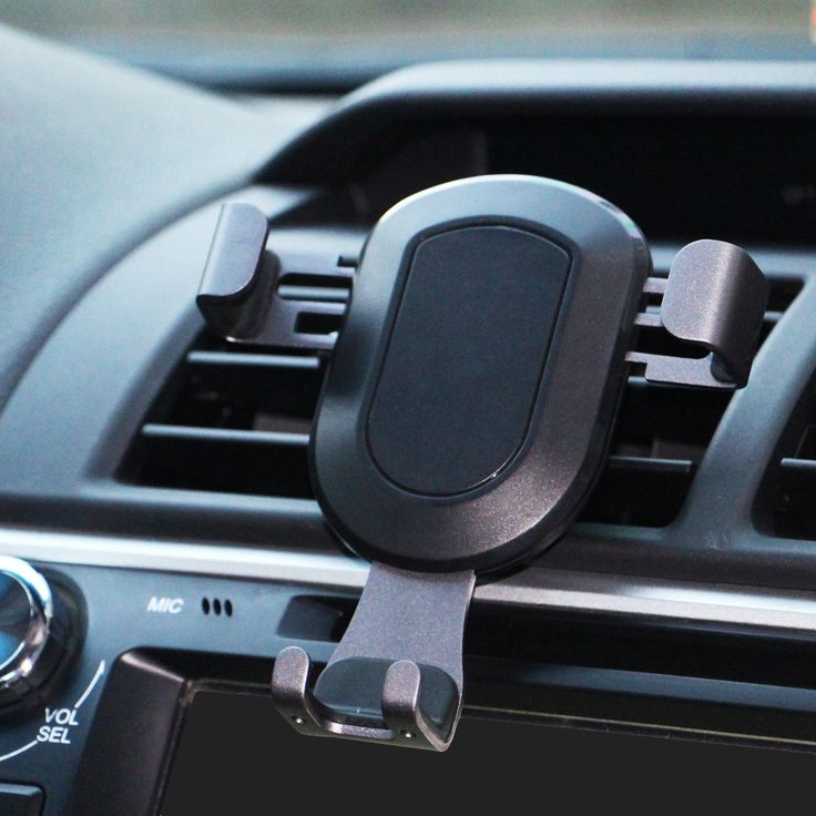 Car Phone Holder, Universal Car Air Vent Phone Mount Holder for iPhone 7 7 Plus 6S 6S Plus 6 6 Plus Samsung Galaxy S8 S7 and all Smartphones (Black)