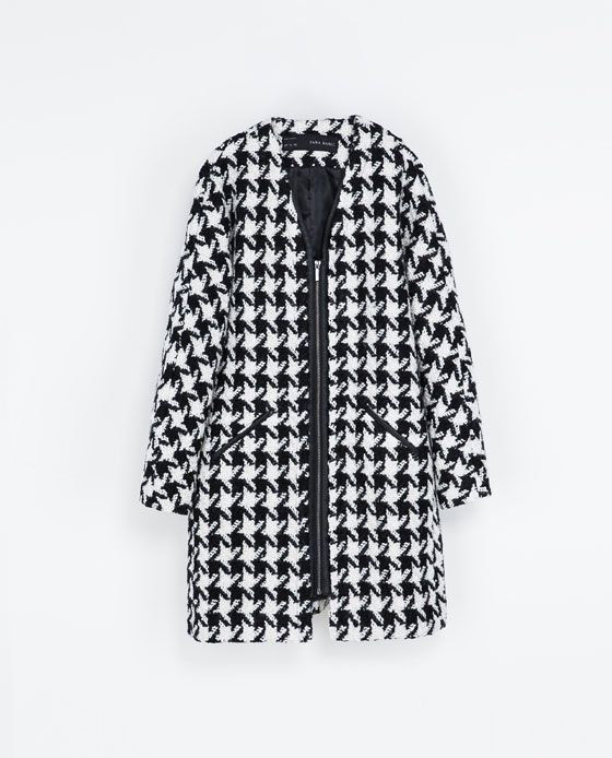 Image 6 of HOUNDSTOOTH COAT from Zara
