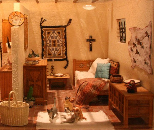 love this southwestern decor miniature room