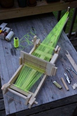 """How To Build A Rigid Heddle Loom For Weaving  Homesteading  - The Homestead Survival .Com     """"Please Share This Pin"""""""