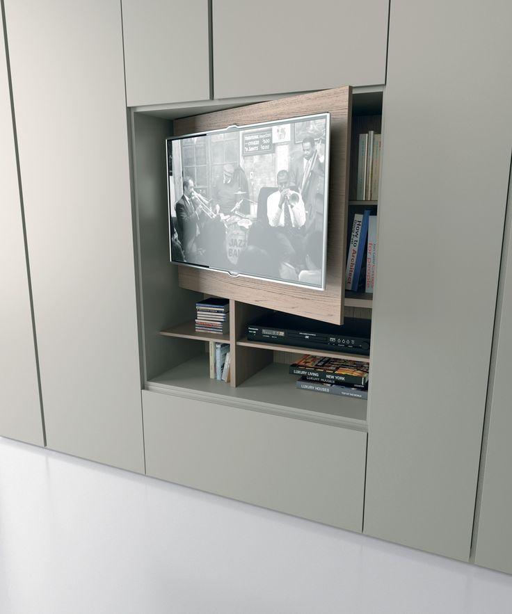GRAFIK Wardrobe with built-in TV by Caccaro design Sandi Renko, R