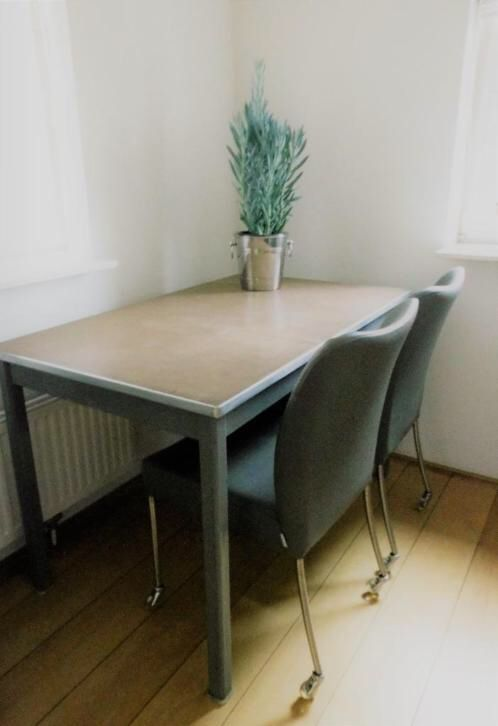 Vintage industriële  tafel / retro Gispen schrijftafel
