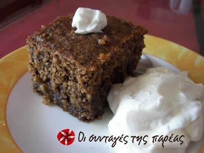 Παραδοσιακή Καρυδόπιτα - Traditional Greek Walnut Cake @sintagespareas.gr