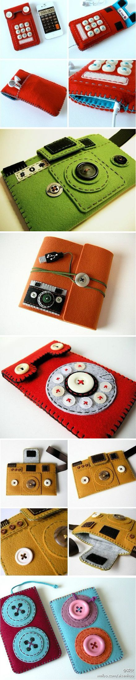 Fundas retro de fieltro - retro felt cases