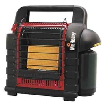 Enerco Group Inc F232000 Mr Heater MH9BX Buddy Heater by Enerco Group Inc. $112.99. Accidental tip-over safety shutoff.. Designed and approved for emergency indoor & outdoor use.. Lightweight, easy to carry.. Automatic low oxygen shutoff system.. Heats up to 200 sq. ft... Designed and approved for emergency indoor & outdoor use. Automatic low oxygen shutoff system. Accidental tip-over safety shutoff. Lightweight, easy to carry. Heats up to 200 sq. ft.. Connects directly t...