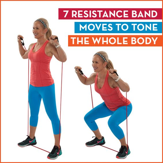 7 Resistance Band Moves To Tone The Whole Body