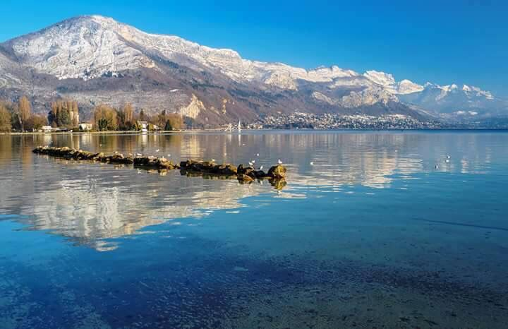 Annecy lac winter snow | Annecy | Annecy france, Mountains ...