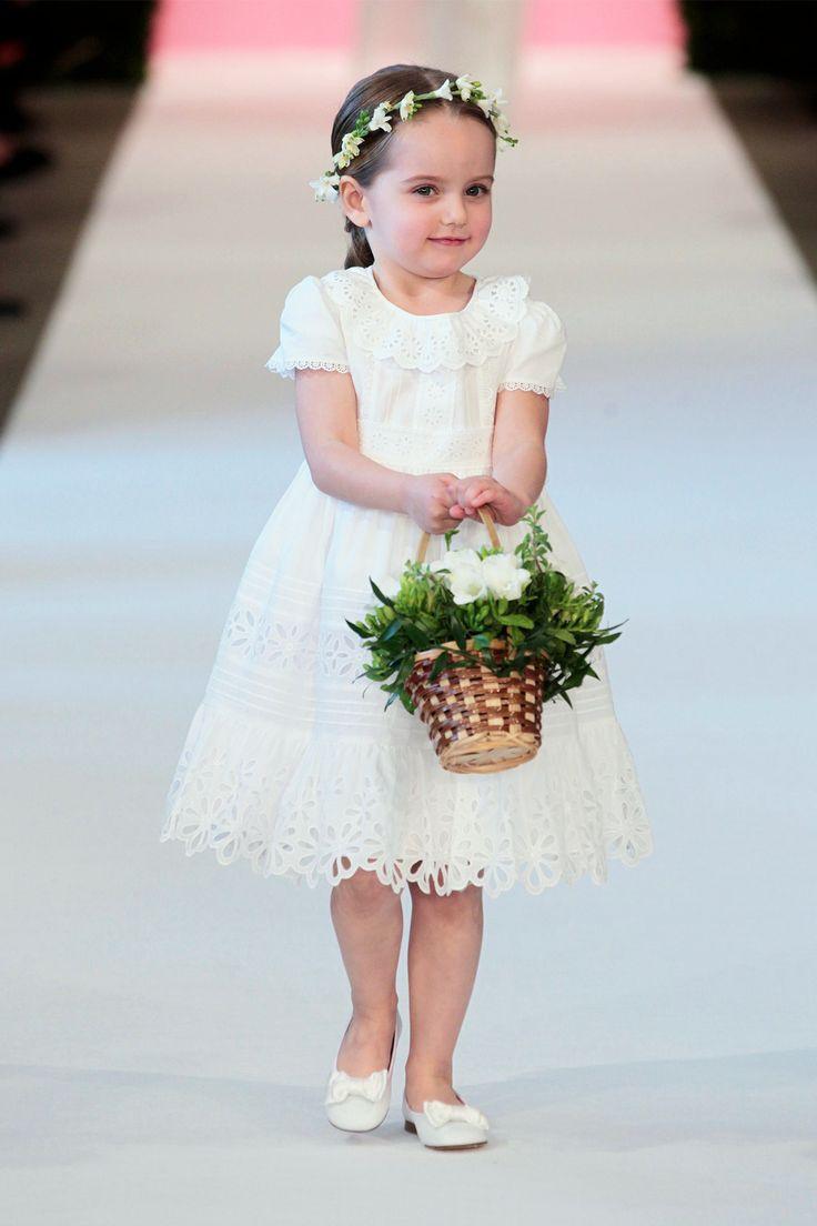 @oscarprgirl special occasion white broderie anglaise cotton dress #specialoccasion #ceremony #oscardelarenta #SS15 #spring #summer #springsummer2015 #childrens #kids #childrenswear #kidswear #kidsfashion #girls