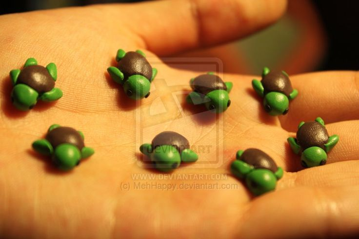 Polymer Clay Turtles by MehHappy.deviantart.com on @deviantART