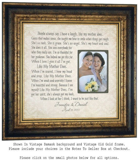 Mother Of The Bride Gift Like My Mother by PhotoFrameOriginals