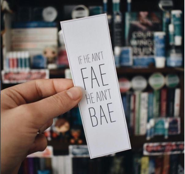 "Free Download - Nerd Girl DIY Bookmark. ""If he ain't fae he ain't bae""... one for all the Throne of Glass / ACOTAR fans!"
