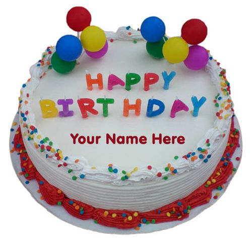 Birthday Cake With Name Kashif ~ Best happy birthday cake names images on pinterest cakes and