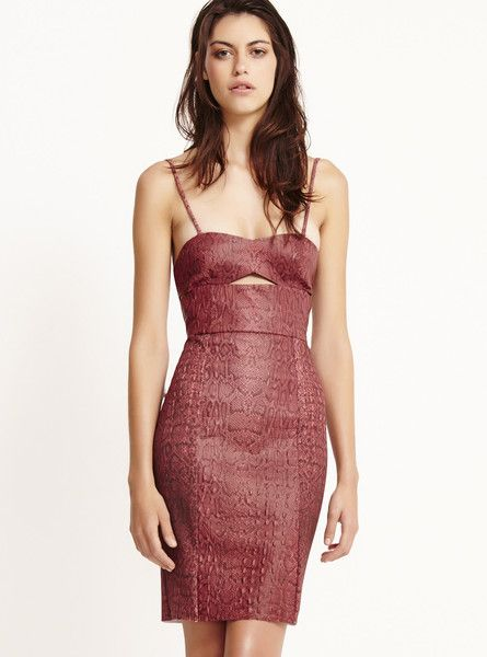 BEC & BRIDGE - Python Panel Dress - Cut Out - Python Print  $220.00