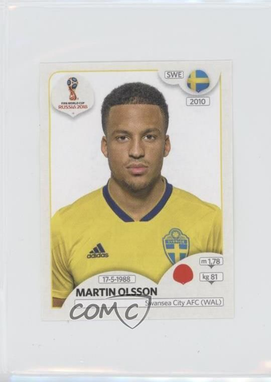 46e128ef47d 2018 Panini World Cup Russia Album Stickers  478 Martin Olsson Soccer Card  Discount Price 53.99 Free Shipping Buy it Now
