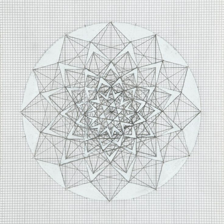 geometric designs on graph paper