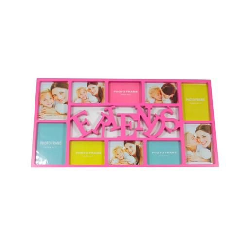 "28.75"""" Pink Dual-Sized """"Friends"""" Photo Picture Frame Collage Wall Decoration"