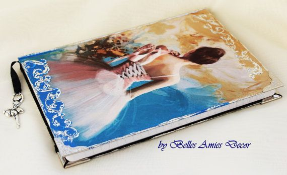 A5 notebook ballerina journal personal diary by BellesAmiesDecor