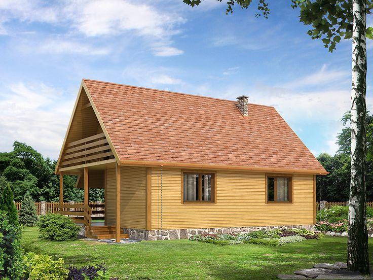 Biedronka jest domkiem letniskowym. Pomimo niewielkiego metrażu, wnętrze domu zostało zaplanowane w taki sposób, by maksymalnie wykorzystać dostępną przestrzeń. Szczegóły projektu na stronie: http://www.domywstylu.pl/projekt-domu-biedronka_dr-s.php. #biedronka #domywstylu #mtmstyl #domydrewniane #projektygotowe #domyrekreacyjne #domyletniskowe