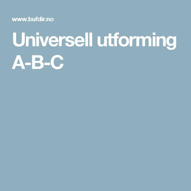 Universell utforming A-B-C