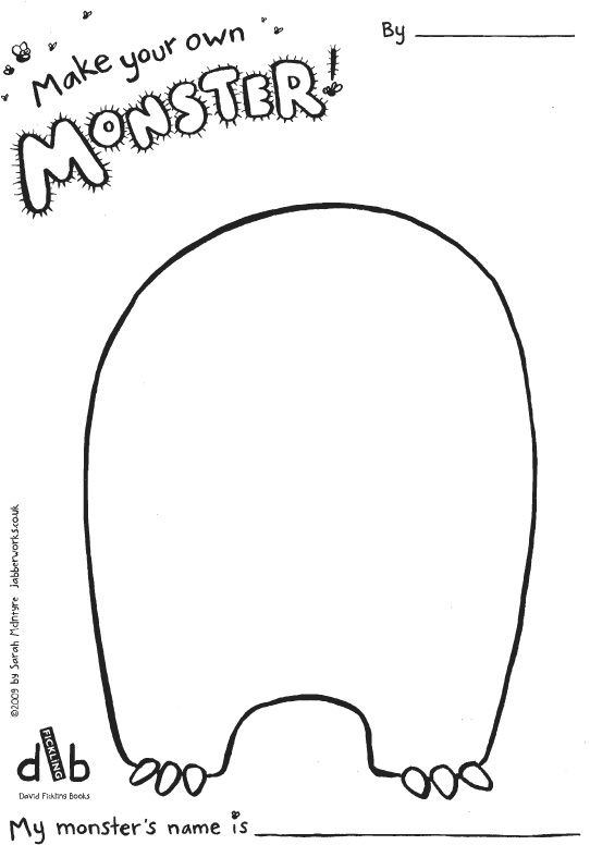 Make your own monster template coming soon baby for Make a coloring page out of a photo