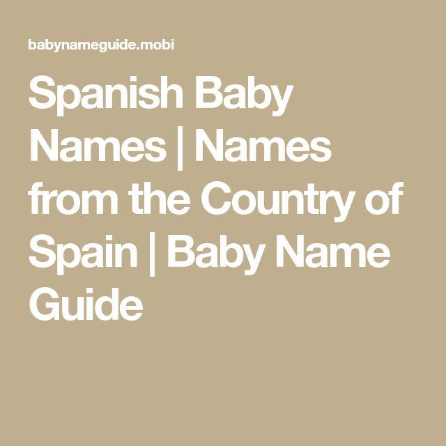 Best 25 Spanish Baby Names Ideas On Pinterest