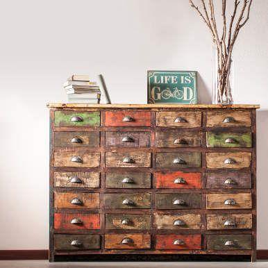 MONDRIANI Sideboard Aus Recyceltem Holz   Küche U0026 Essen