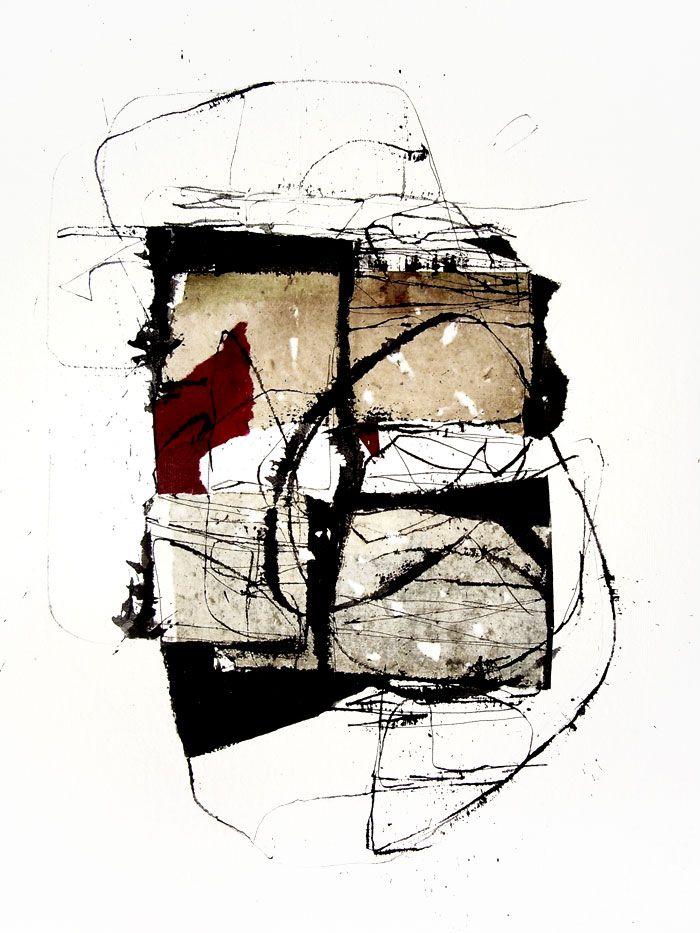 kitty sabatier  - 176, Techniques mixtes, 50 x 65 cm - 2012 #Mixed_media #mark_making