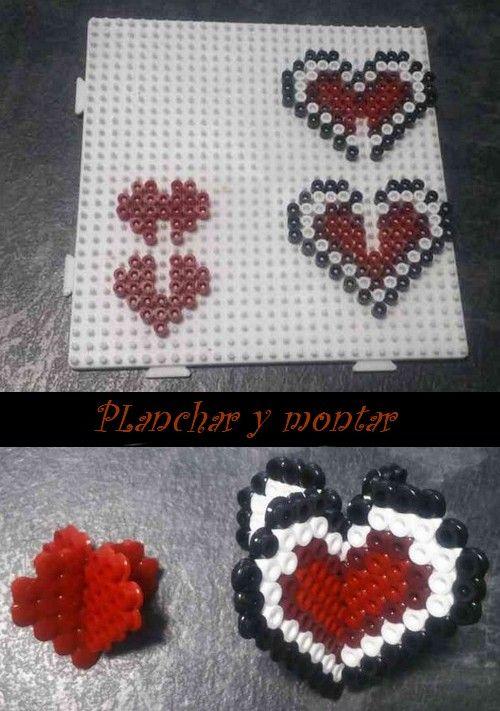 3D Valentine hama perler heart by Hamamia on deviantART