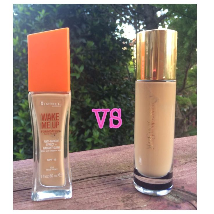 YSL Touche Éclat Foundation vs Rimmel Wake Me Up