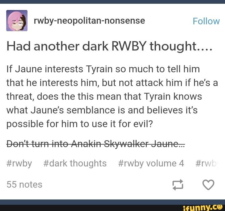 Does Tyrain know Jaune's semblance?