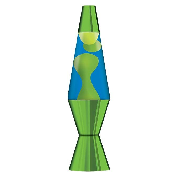 14 5 Inch Metallic Lava Lamp With Metallic Base Yellow Wax Blue Liquid Green Amazon Com Cool Lava Lamps Lava Lamp Blue Lava Lamp