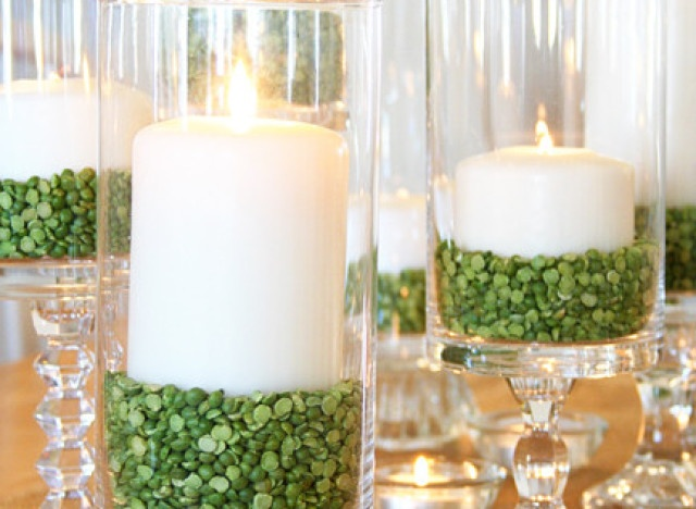 For st patty's day, Christmas or just a green themed table setting!